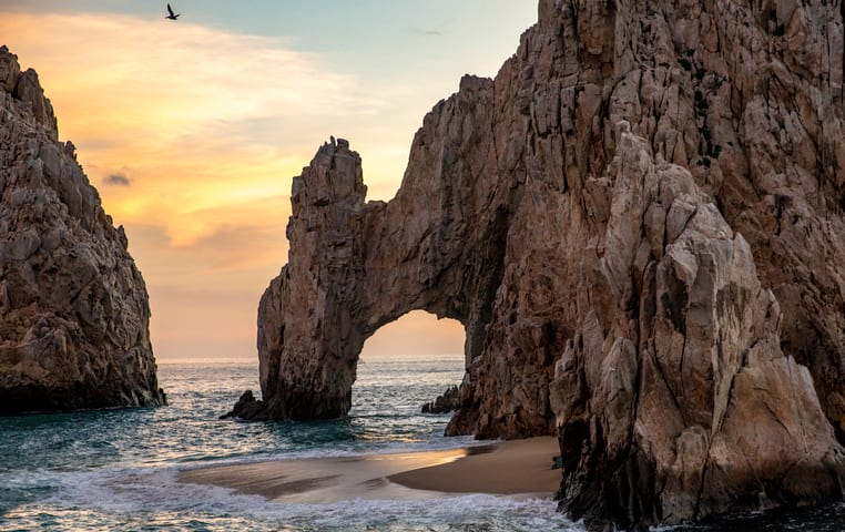 Incredible Sunset at the Cabo Arch
