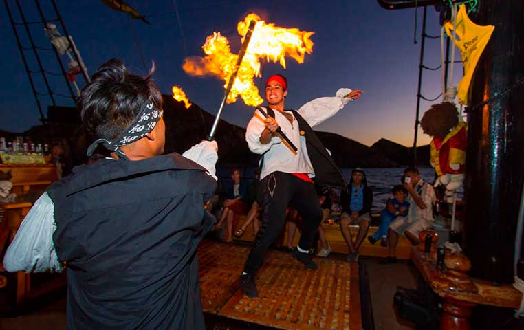 Pirate Show on Pirate Ship in Cabo