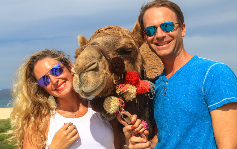 Riding a Camel in Cabo