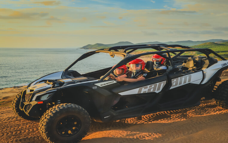 Ride your ATV during Sunset